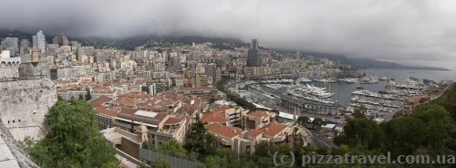 View of Monaco from the old city