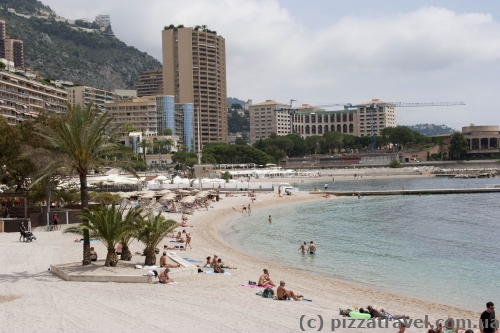 City beach in Monaco