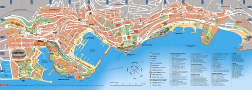 Tourist map of Monaco
