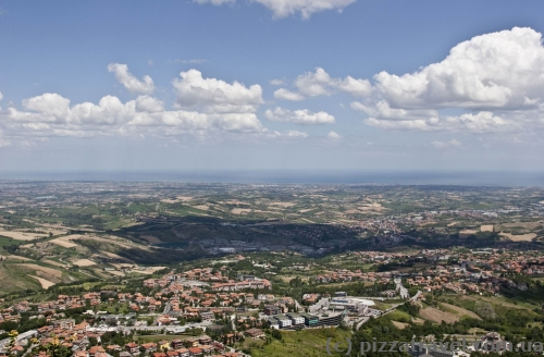 Panorama of the coast from San Marino