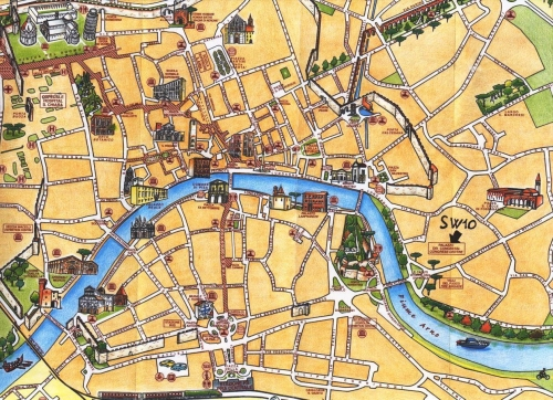 Tourist map of Pisa