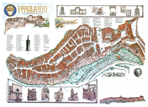 Map of Pitigliano