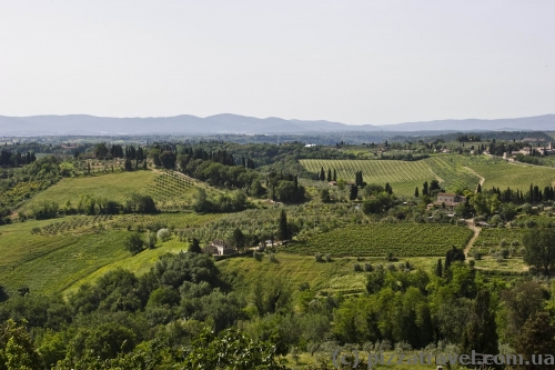 Сан-Джиминьяно, вид на Тоскану
