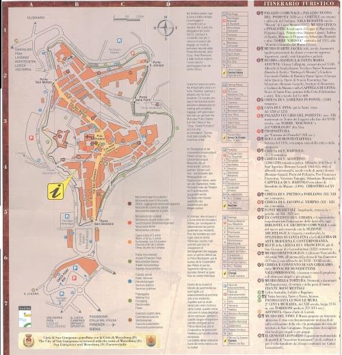 Карта Сан-Джиминьяно