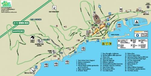 Карта Сан-Ремо