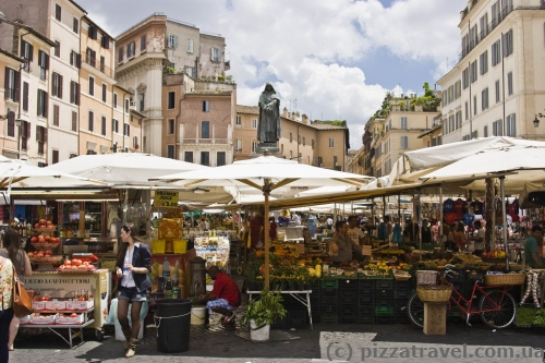 Market at the Campo dei Fiori Square