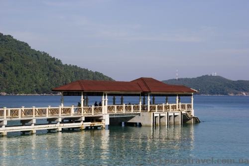 The PIR hotel and some others have their own piers.