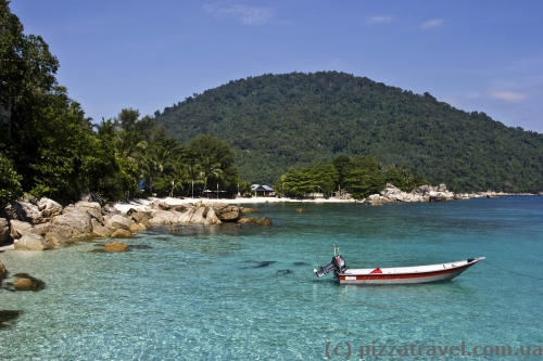 Вид на пляж отеля Coral View
