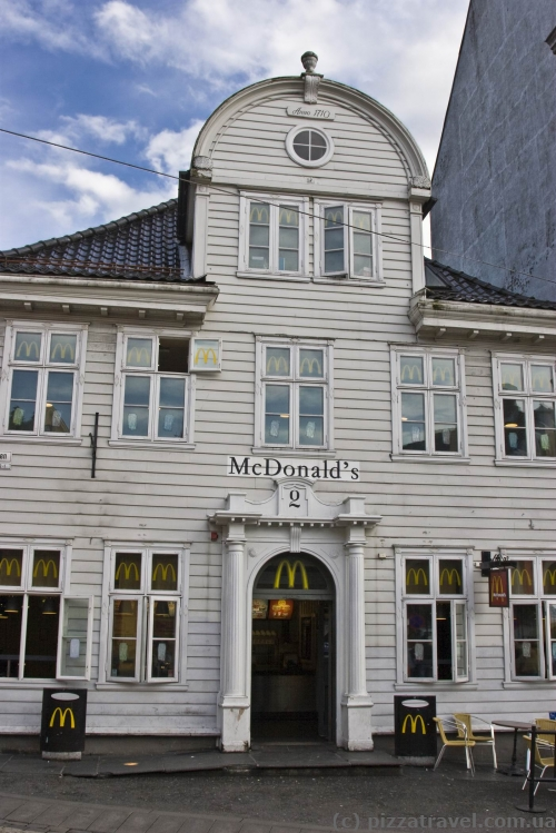 Wooden McDonald's in Bergen