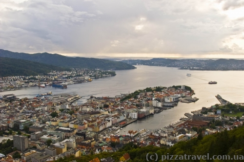 View of Bergen from Mount Floyen