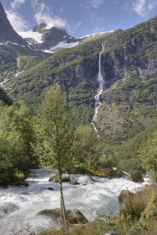 Landscapes near the Briksdal glacierGlacier