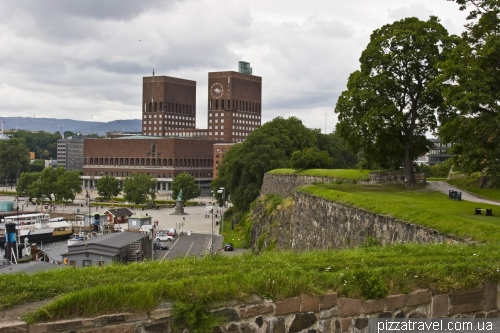 Akershus Fortress and Oslo City Hall