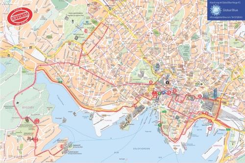 Туристическая карта Осло