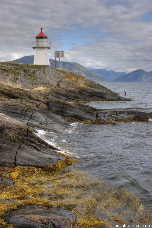 Lighthouse near the Sognefjord Hotel A/S