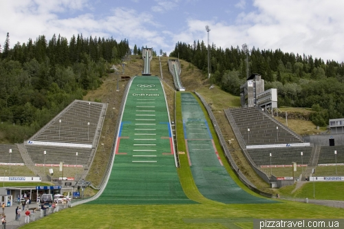 Olympic trampolines in Lillehammer