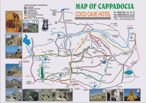 Map of the Cappadocia region