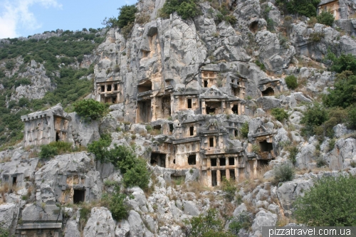 Tombs of the ancient city of Myra