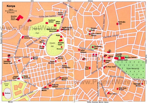 Карта Коньи