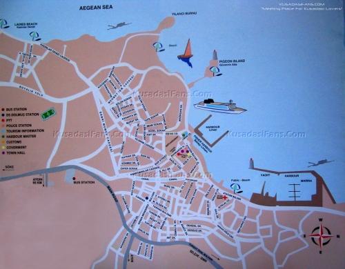 Карта города Кушадасы