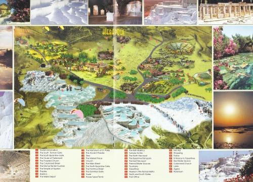 Карта Памуккале