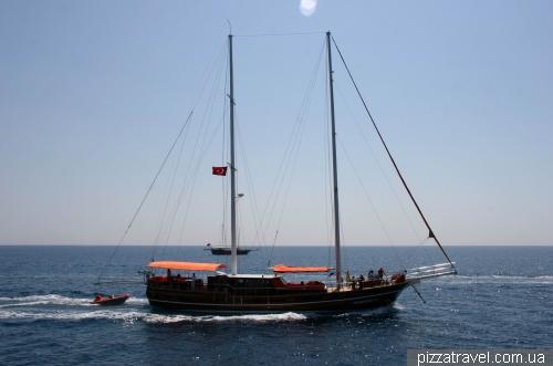 Прогулка на корабле из Кемера