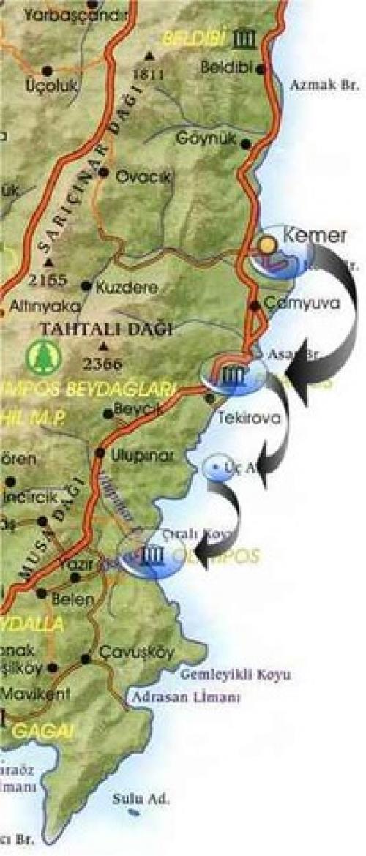 План дневной поездки из Кемера на кораблике