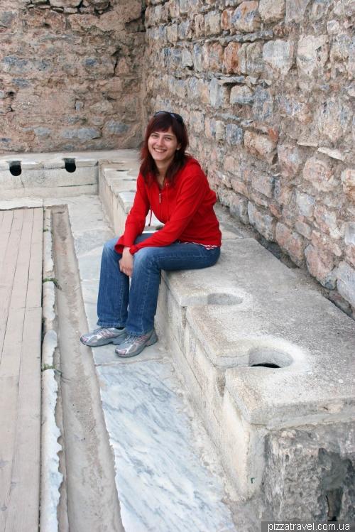 Toilet in Ephesus