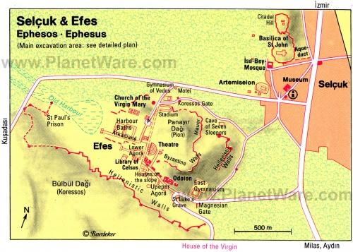 Map of Ephesus