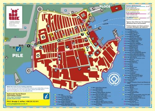Карта Дубровника