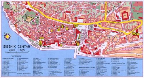 Карта Шибеника