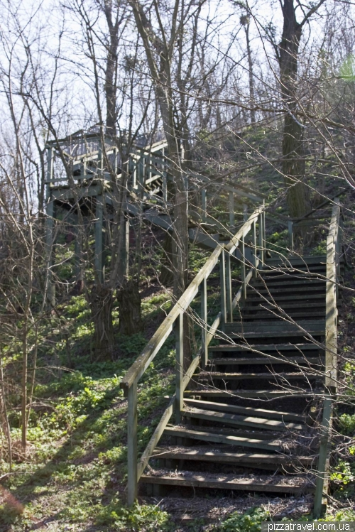 Abandoned stairs from the house to the restaurant