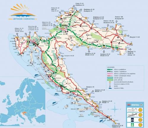 Транспортна карта Хорватії