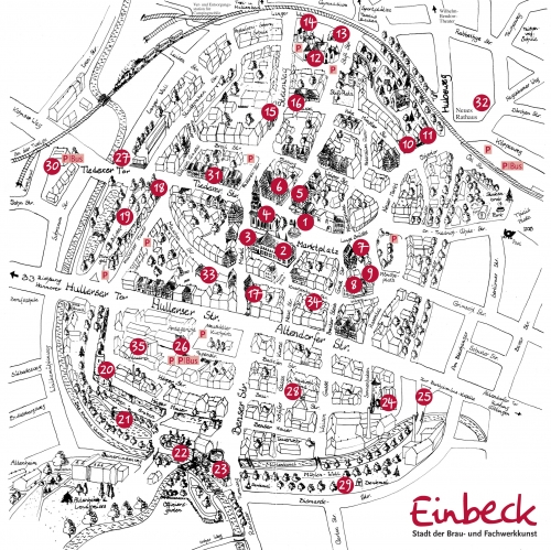 Map of Einbeck