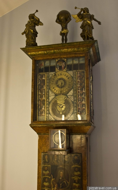 Unique clock in the library of Duchess Anna Amalia in Weimar