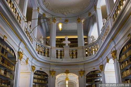 Rococo Hall in the library of Duchess Anna Amalia in Weimar