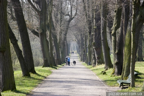 Landscaped park near the Belvedere palace in Weimar