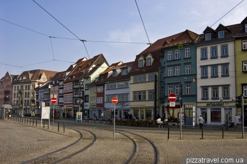 Houses on the Cathedral Square in Erfurt