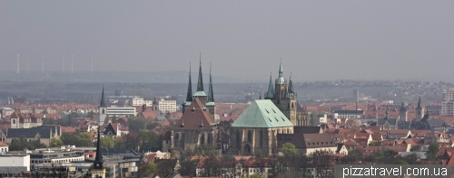 View of the Erfurt from EGA park