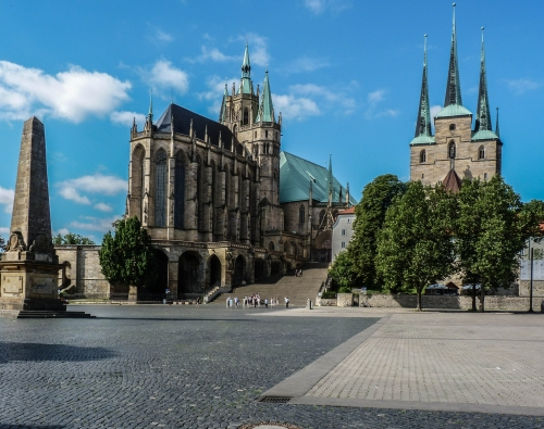 Cathedral Square (Domplatz) in Erfurt