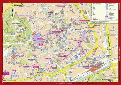 Tourist map of Erfurt
