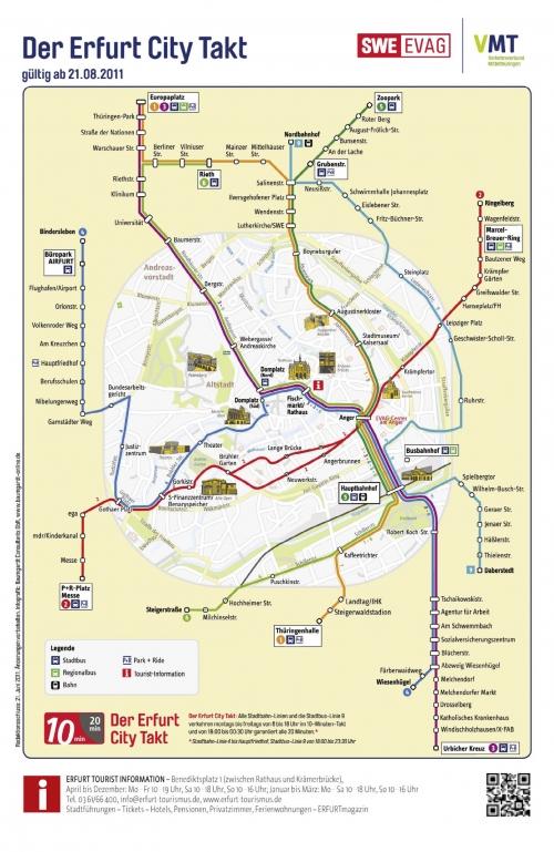 Карта транспорту в Ерфурті