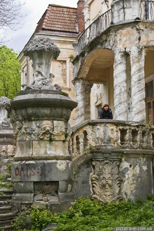 Дворец и парк в Оброшино