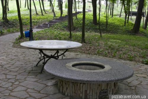Table of unknown purpose in the park
