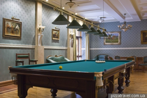 One of billiard rooms