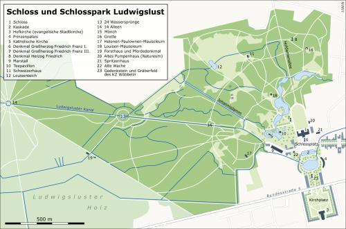 Карта парка в Людвигслюсте
