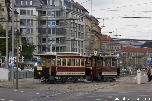 Very old tram in Leipzig