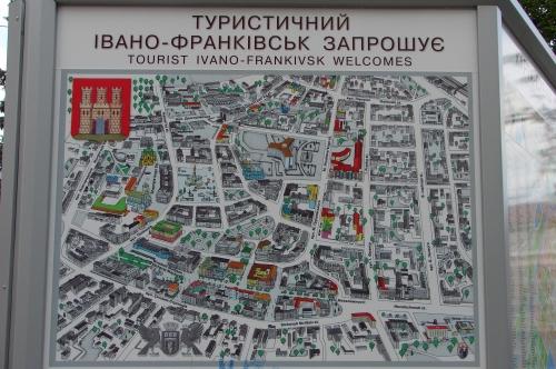 Туристическая карта Ивано-Франковска