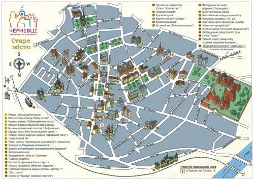 Карта Чернівців