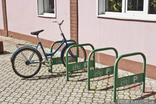 Bicycle parking in Kosiv