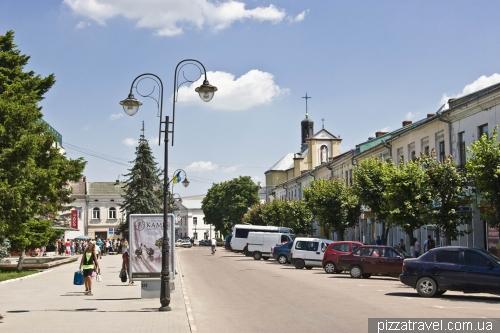 Дома на площади Тараса Шевченко в Коломые